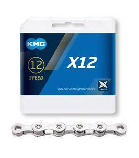 CADENA KMC X12 PLATA 12 VELOCIDADES