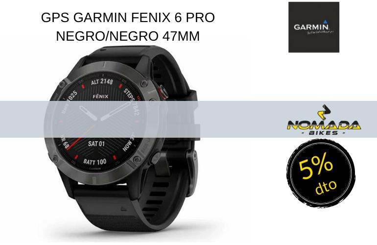 GPS GARMIN FENIX 6 PRO NEGRO/NEGRO 47MM