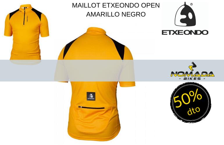 MAILLOT ETXEONDO OPEN AMARILLO NEGRO L